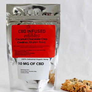 Coconut Chocolate Chip Cookies - 10mg of CBD