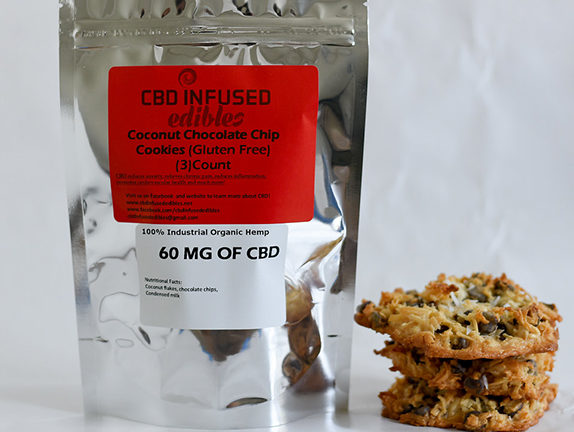 Coconut Chocolate Chip Cookies - 60mg of CBD