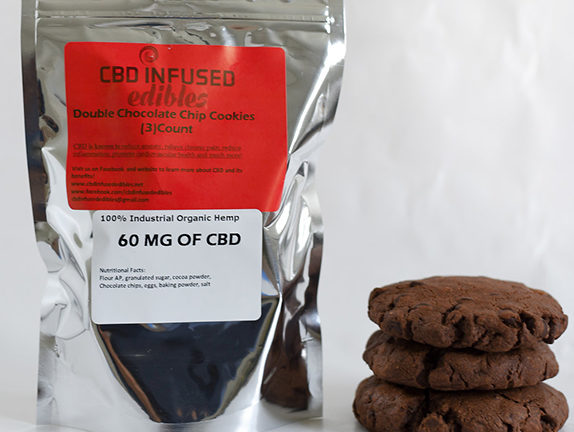 Double Chocolate Chip Cookies - 60mg of cbd