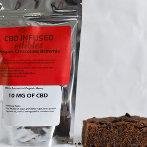 Vegan Chocolate Brownie - 10mg of CBD